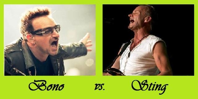 Bono vs Sting
